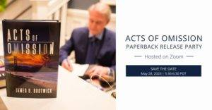 acts of omission paperback release party save the date