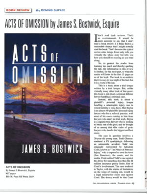 The Philadelphia Lawyer Reviews Legal Thriller Acts of Omission